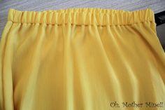 Cómo hacer y coser una falda larga amarilla DIY