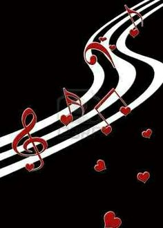 music notes and hearts Music Pics, Music Images, Music Pictures, Music Stuff, Poster Pictures, Music Drawings, Music Artwork, Piano Music, My Music