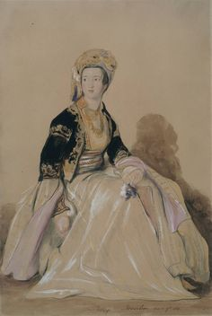 Sir David Wilkie, 'Mrs Elizabeth Young in Eastern Costume' 1841. ORIENTALISM
