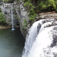 #Tennessee #canecreekfalls #fallcreekfalls #waterfalls #twoforthepriceofone #smokymountains