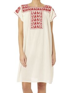 Image of STAR MELA Lori Embroidery Red Dress