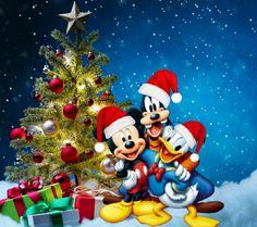 Disney christmas goofy donald mickey
