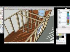 In this segment I begin to draw the interior of this tiny house. Sketch Up Architecture, Interior Walls, Interior And Exterior, Tiny House France, Google Sketchup, Studio Living, Interior Sketch, House On Wheels, Planer