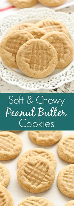 MAKE THESE ASAP These soft peanut butter cookies are easy to make, full of peanut butter flavor, and don't require any dough chilling! Soft Peanut Butter Cookies, Peanut Butter Desserts, Yummy Cookies, Cookie Desserts, Peanutbutter Cookies Easy, Peanut Butter Cookie Dough Recipe, Peanut Recipes, Easy Cookie Recipes, Sweet Recipes