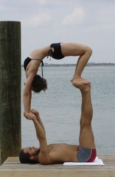 Acro yoga! Earn trust in your partner through Acro yoga! More inspiration at: http://www.valenciamindfulnessretreat.org LOVE