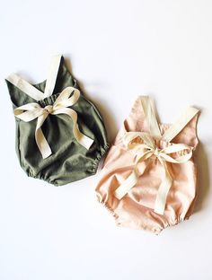 Handmade Linen & Lace Rompers / StandardOfGraceShop on Etsy