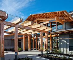riverway clubhouse - Google Search Once In A Lifetime, British Columbia, Pergola, Outdoor Structures, Google Search, Beautiful, Outdoor Pergola