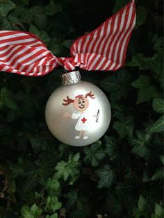 Nurses Ornament Hand Painted Personalized by BrushStrokeOrnaments