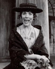 Julie Andrews portrayed Eliza Doolittle in MY FAIR LADY on Broadway ~ 1956