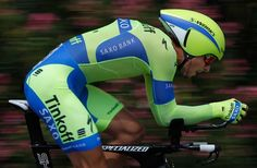 Peter Sagan (Tinkoff-Saxo) on his way to winning the time trial (Getty Images Sport)