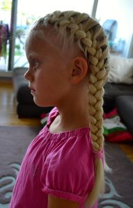 two french braids near the face - back to school hairstyles