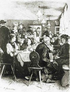 Wilhelm Hasemann  Gutacher Bauern bei einer Hochzeit #Gutachtal
