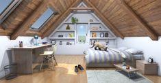 Attic Bedroom Small, Attic Bedroom Designs, Attic Design, Attic Spaces, Attic Rooms, Attic Bedroom Closets, Bonus Room Design, Attic Game Room, Attic Bedroom Decor