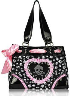 Pink & sac de crâne noir