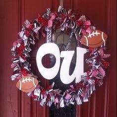 OU SOONERS fabric wreath :-)