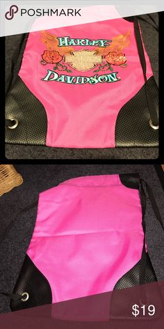 Harley Davidson backpack New Pink-black with sequence design Harley-Davidson Bags Backpacks