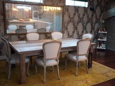 Dining room perfectly fit for a dinner party. We'll crash in the guest room, thank you. Chairs from HD Buttercup