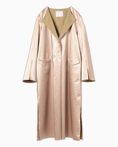 Leather-Touch Coat - pink