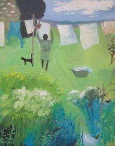 """Washing Day"" acrylic - Louise Waugh"