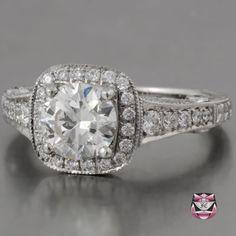 Art Deco Engagement Ring - Certified 1.16ct I/VSI Diamond