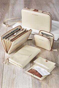 Pearls & Rose Gold Collection from Levenger Pearl Rose, Rose Gold, Pearl White, Leather Wallet Pattern, Simple Wallet, Converse Sneaker, Cute Wallets, Wallets For Women Leather, Beauty Products