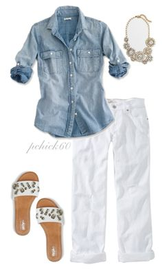 """""""Labor Day Look"""" by pchick60 on Polyvore featuring Old Navy and J.Crew"""