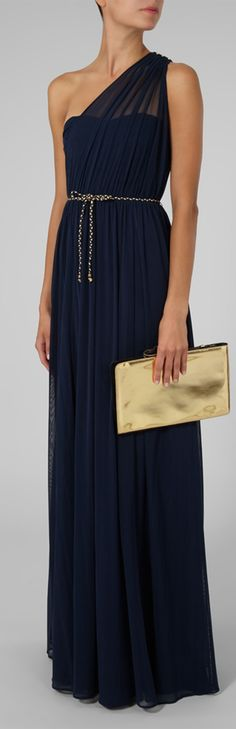 Navy blue Maid of honour dress
