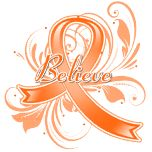 Leukemia Believe Flourish Ribbon