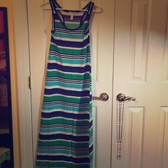 Striped Maxi Dress from Wet Seal