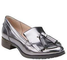 Clarks Narrative Leather Loafers with Tassels - Busby Folly