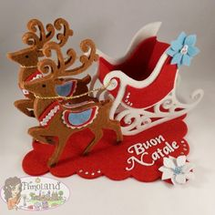 Natale Archivi - Fimoland Christmas Fabric Crafts, Easy Christmas Ornaments, Simple Christmas Cards, Christmas Applique, Christmas Toys, Diy Christmas Gifts, Diy And Crafts, Christmas Crafts, Christmas Decorations