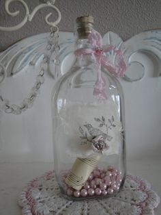 Shabby Chic Romantic Cottage Vintage Style Glass by JCKEEVER, $22.00