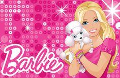 Barbie and Name Logo Barbie Theme, Barbie Birthday, Barbie Party, Barbie Painting, Barbie Stories, Barbie Cartoon, Disney Princess Pictures, Barbie Images, Barbie Paper Dolls