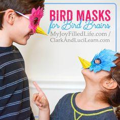 Bird Masks for Bird Brains via @slavila