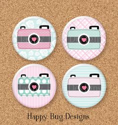 "Camera Magnet Set of 4 -  1-1/4"" 1.25 inch - Only 3!"
