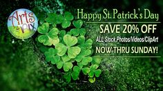 SAVE 20% OFF ALL Arts & Pix Stock Photos/Videos & ClipArt... NOW thru Sunday at my TpT Store.