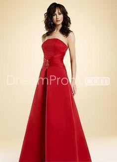 Elegant A-Line/Princess Strapless Floor-length Bridesmaid Dresses