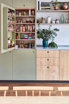 Bespoke larder cupboard, we make larders in all shapes & sizes in our Brixton, South London workshop