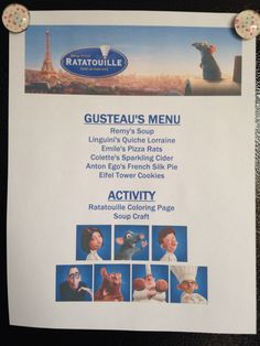 1000 Images About Movie Night Ratatouille On Pinterest