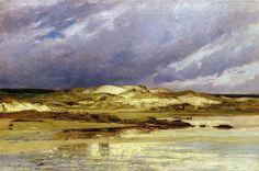 Solitude, huile sur toile de William Lamb Picknell (1853-1897, United States)