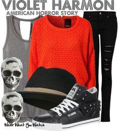 Inspired by Taissa Farmiga as Violet Harmon on American Horror Story Season 1.