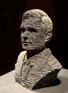 (Description from source website):     Alan Turing - Codebreaker    Stacked Slate Sculpture    By Stephen Kettle    Turing is widely considered to be the father of computer science and artificial intelligence.    During the Second World War, Turing worked for the Government Code and Cypher School at Bletchley Park, Britain's codebreaking centre. For a time he was head of Hut 8, the section responsible for German naval cryptanalysis. He devised a number of techniques for breaking German cipher...