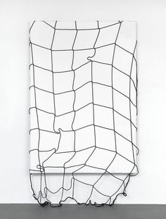 The Catch, 2011, acrylic, plastic net, canvas, 180 x 120 cm | Simon Dybbroe Møller