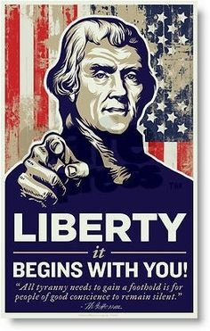 It begins with you. #Liberty #Freedom #Quote