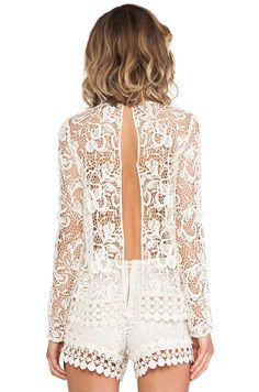 Alexis Belize Open Back Cochet Top in Natural Crochet//