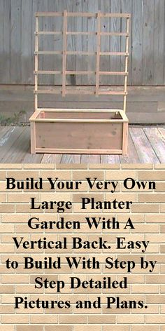 Cedar Planter Plans / Wood Working Plans / Outdoor Planters / Planter Box Plans…