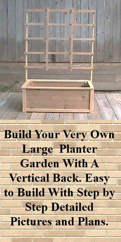 Cedar Planter Plans / Wood Working Plans / Outdoor Planters / Planter Box Plans…