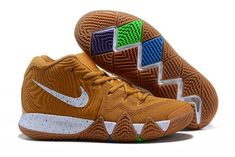 26e1b8098dbb 2018 Nike Kyrie 4 Cinnamon Toast Crunch Metallic Gold Coin White  BV0426-900-2