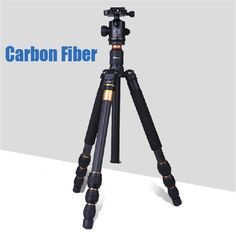 131.65$  Watch now - http://alinht.worldwells.pw/go.php?t=32725741691 - Q476 professional carbon tripod Fixed carbon fiber portable camera tripod  For Canon Nikon Sony DSLR Camera Free shipping by DHL