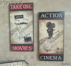 Movie Theater Wall Decor studios, film reels and hollywood studios on pinterest